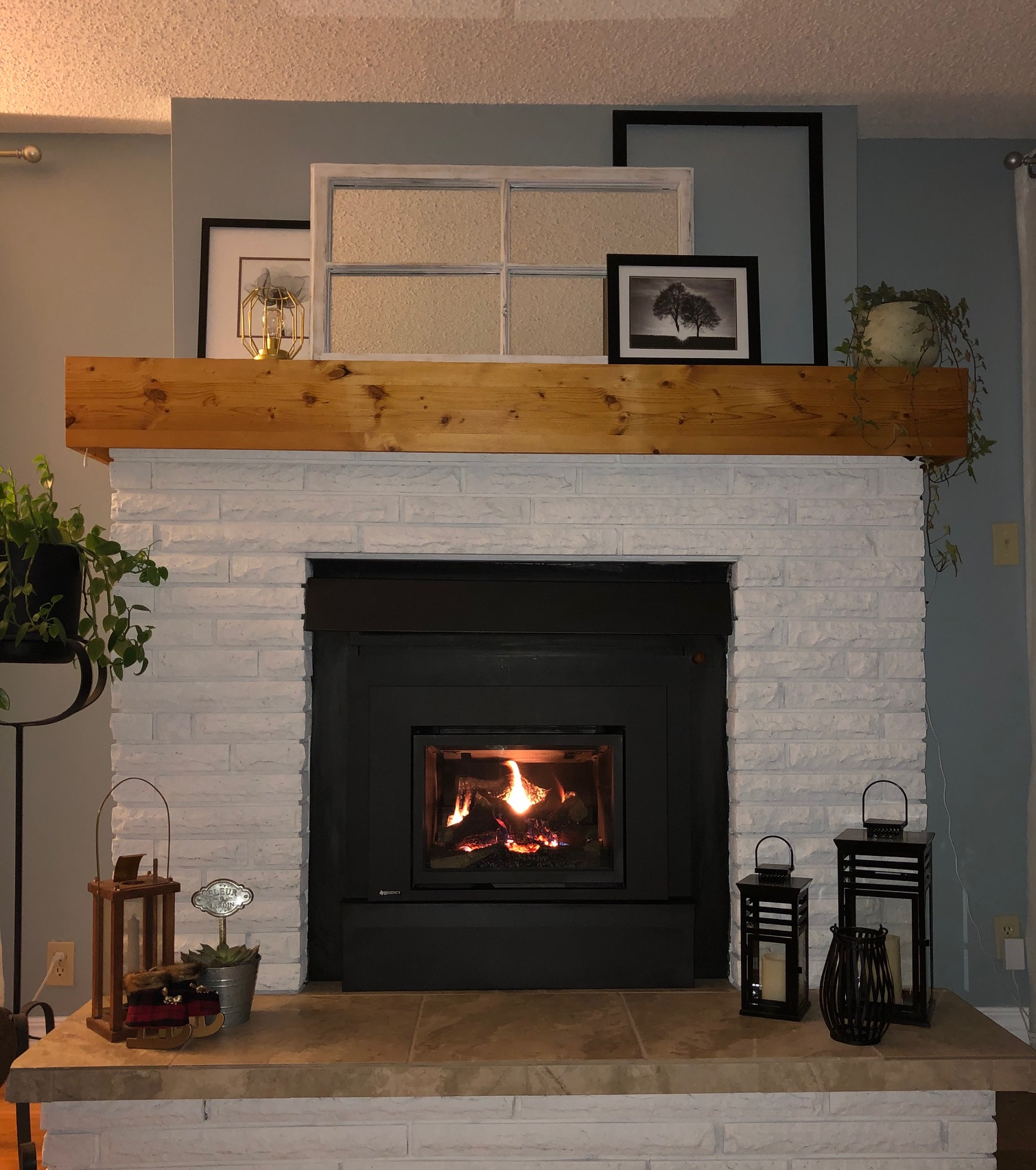 Fireplace Installed and functionally beautiful. What a difference!